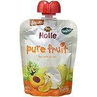 Holle Smoothie Pera con Albaricoque (+4 meses) - Paquete de 12 x 90 gr - Total: 1080 gr