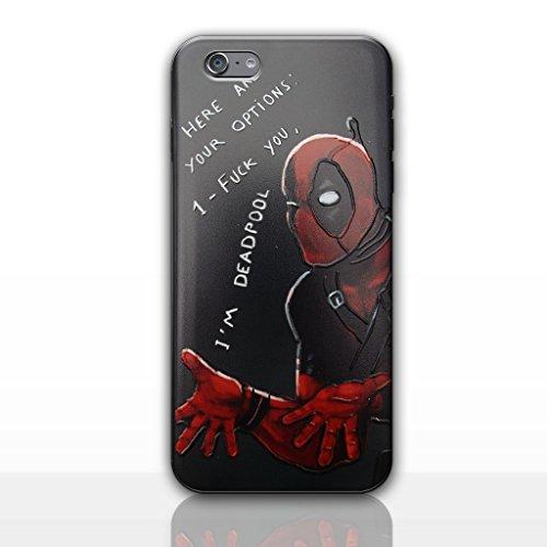 """iPhone 6/6s 3D Marvel Étui en Silicone / Coque de Gel pour Apple iPhone 6s 6 (4.7"""") / Protecteur D'écran et Chiffon / iCHOOSE / Deadpool - Les Options, Coques iphones"""