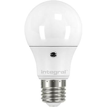 Integral LED ILA60E27S6.5N27KBEMA - Bombilla LED (E27, 5 W, sensor de