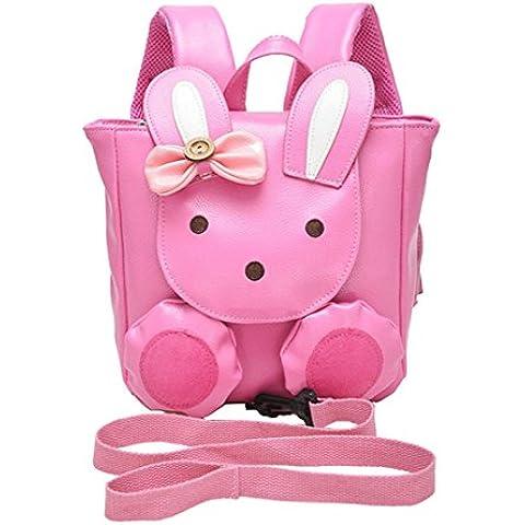 Moolecole Conejo de la historieta del niño que caminan del bebé arnés de seguridad, anti-perdió Mochila con la correa desmontable