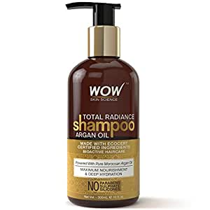 WOW Total Radiance No Sulphate, Parabens & Silicones Shampoo, 300mL