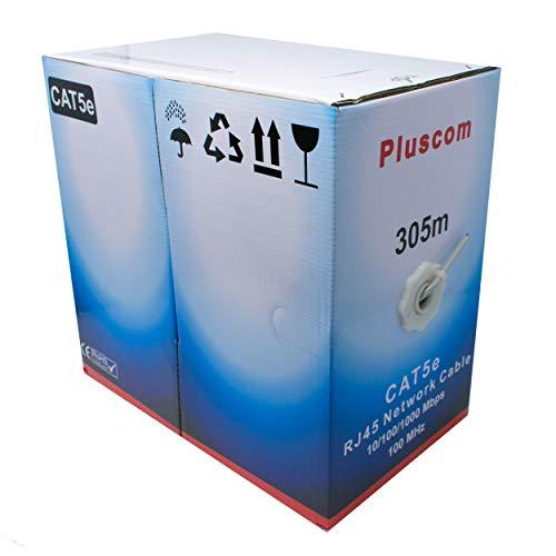 I-CHOOSE LIMITED 305m Metre Cat5e AWG24 Ethernet LAN FTP Rollen Sie Bulk CCA Kabel / 1000ft Vernetzung/Grau (Rj45-stecker Bulk)