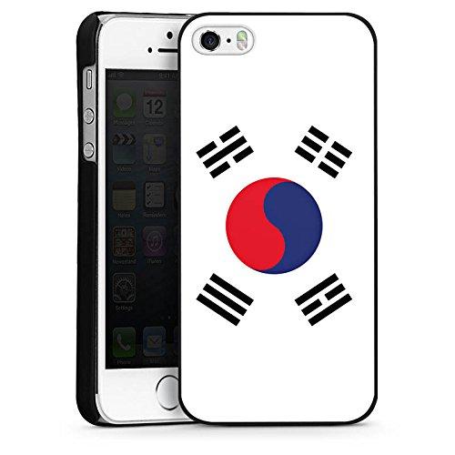 Apple iPhone 5 Housse étui coque protection Corée du sud Drapeau Corée CasDur noir