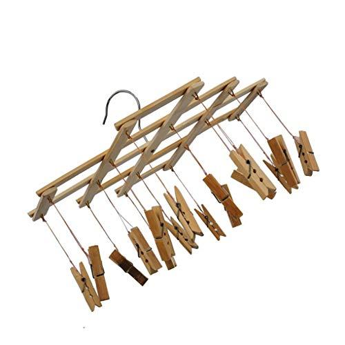 Kineca Bambú 16 Clip Tendedero Doblar Ropa Pinzas