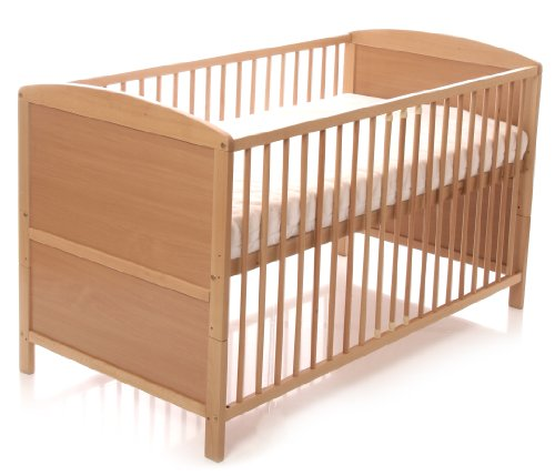 Osann Kinderbett Gitterbett Kaspar Buche, Matratzenmaß 140 x 70 cm, Rahmen aus massivem Buchenholz