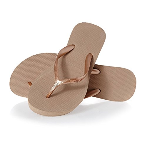 HAVAIANAS - brasilianischen Flip-Flops aus hochwertigem natürlichem Leder, Mädchen-37 (35 BR) -