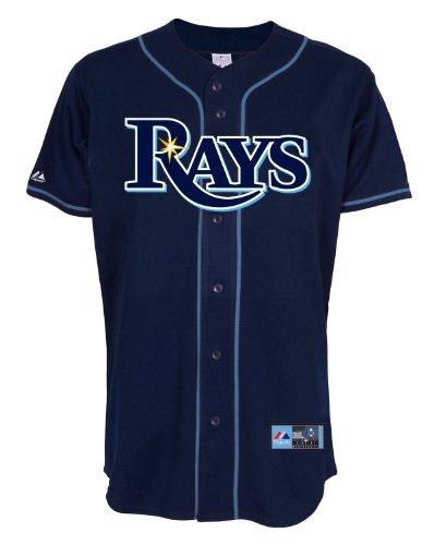 MLB Tampa Bucht Strahlen Alternate Replica Jersey, Marineblau, Herren, 6700-TBYA-RAY-RJA, Navy, S