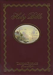Lighting the Way Home Family Bible-NKJV: (Kinkade Painting on Cover)