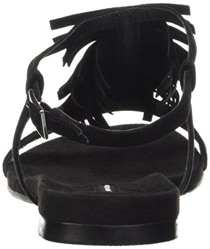Belmondo 703351, Sandales ouvertes femme Noir - Schwarz (camoscio nero)