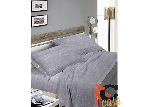 Set complet de lit en flanelle, motif bon bon 2P gris