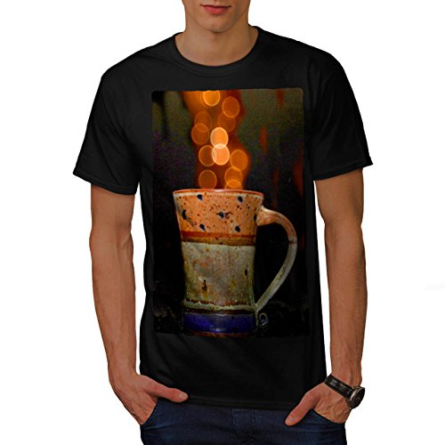 stylish-cup-of-tea-color-bubbles-men-new-black-m-t-shirt-wellcoda
