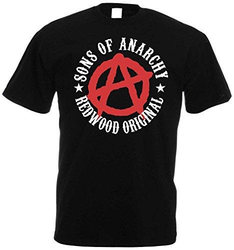 SONS OF ANARCHY Redwood Original T-Shirt Offizielles Lizenzprodukt|schwarz-M (Offizielle Sons Of Anarchy)