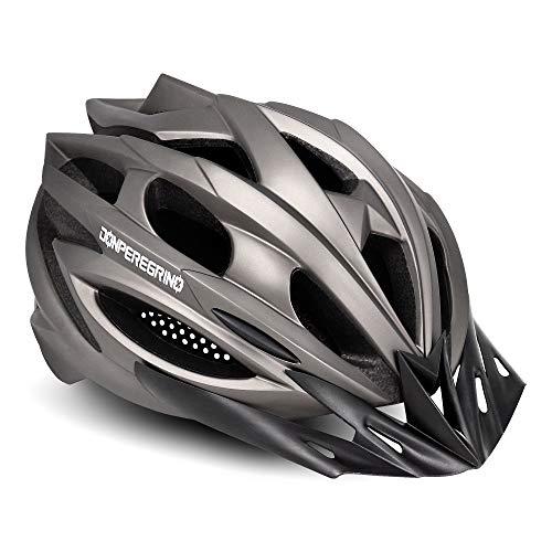 DONPEREGRINO Ultraleicht Fahrradhelm Damen Herren, Integral Geformt Sporthelm (Dragon-Titanium)