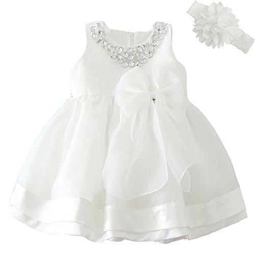 Dream Rover Baby Mädchen Kleid Taufe Besondere Gelegenheit Kleid (Mädchen Besondere Kleider)