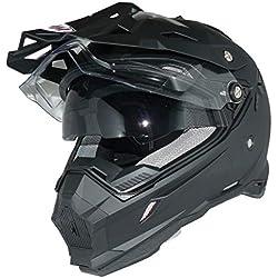 protectWEAR - Casque Cross Casque Enduro Casque Moto avec Pare-Soleil et visière intégrés THH-TX28-XS