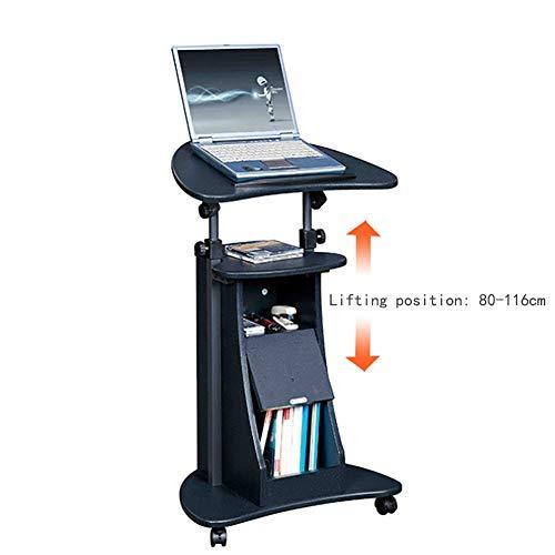 BDMF Computertische Steh Schreibtisch Stehhöhe Höhenverstellbarer Schreibtisch Laptop-Hubtisch Mobile Werkbank Nachttisch Konferenzpodium,A -