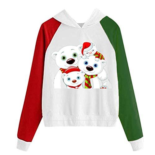 JXQ-N Femmes De Noël De Chien d'impression Sweat à Capuche Manches Longues Sweat-Shirt Pull avec Capuche Tops