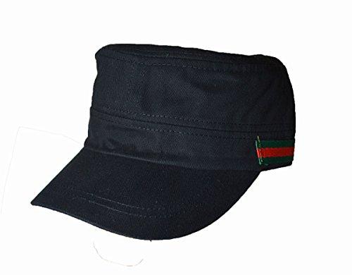 KGM Accessories Nice Military Kappe Cadet Seite Streifen Logo schwarz -