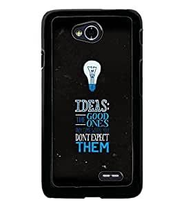 PrintDhaba Quote D-3817 Back Case Cover for LG L70 (Multi-Coloured)
