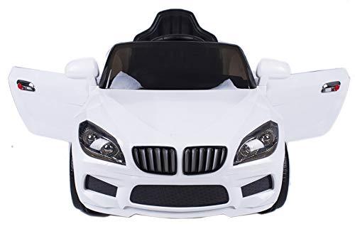 ATAA CARS Coche eléctrico niños con Mando y batería 12v Estilo X5 12v Coche eléctrico para niños Blanco