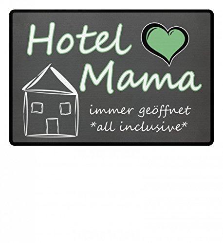 Hochwertige Fußmatte - Hotel Mama - Mutter - Fußmatte Geschenk