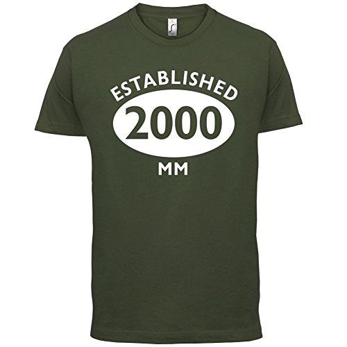Gegründet 2000 Römische Ziffern - 17 Geburtstag - Herren T-Shirt - 13 Farben Olivgrün