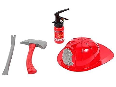 Costumes Accessoires En Ligne - Set de pompier jouet en plastique composée