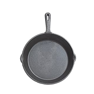KitchenCraft Flat Round Induction-Safe Non Stick Cast Iron Griddle Pan, Healthy Way of Cooking, 24 cm
