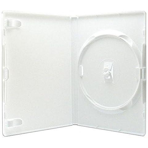 MasterStor un étui Amaray véritable 14mm blanc seul DVD (Pack de 25,50) (Pack de 25)
