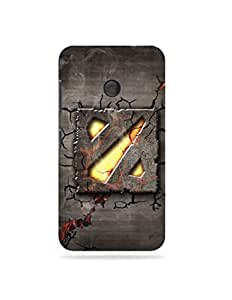 alDivo Premium Quality Printed Mobile Back Cover For Nokia Lumia 530 / Nokia Lumia 530 Printed Mobile Case (MKD036-3D-O6-NL530)