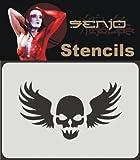 Airbrush Bodyart Schablone A6 - Skull Tattoo 01