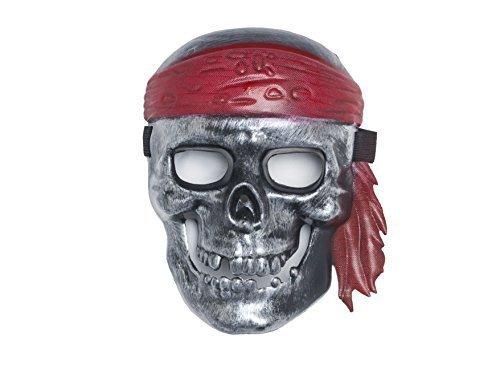 Shenky Masken für Fasching Karneval Halloween Anonymous Vendetta (Pirat Silber)