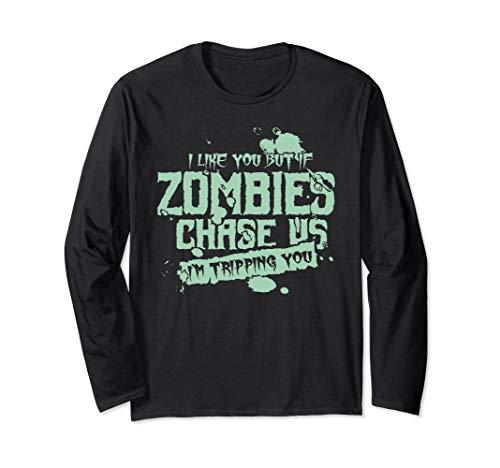 Armee Kostüm Der Untoten - Gruselig Halloween Untote Zombie Sprüche Langarmshirt