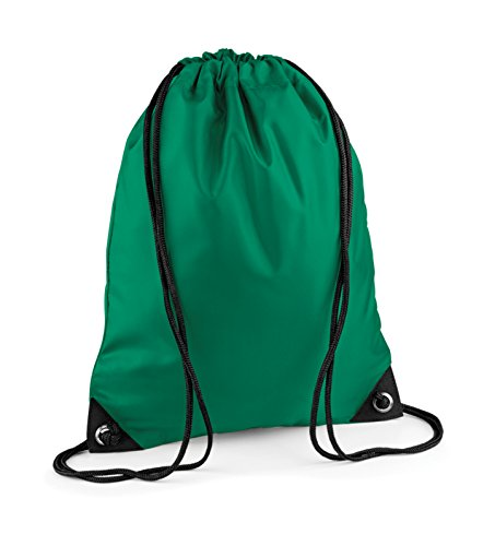 Turnbeutel bestickt mit Ihrem Wunschnamen / Wunschtext kelly green