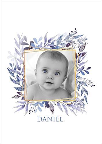 Desconocido Estor Digital FOTOGRAFICO Infantil con Nombre ¡¡ ESTORES para Imprimir Foto Y Poner Nombre (Azul, 110X175)