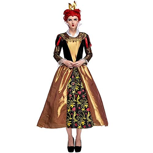 Classic Style Queen of Hearts Fancy Dress Costume UK ()