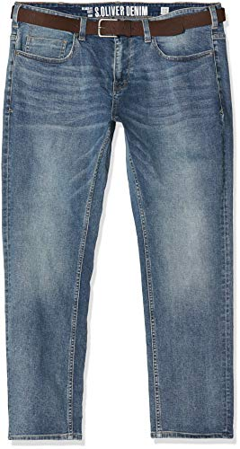 s.Oliver Big Size Herren 15.901.71.5680 Straight Jeans, Blau (Blue Denim Stretch 54z4), W46 (Herstellergröße: 46/L32)
