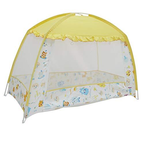 F Fityle Baby Krippe Bett Moskitozelt Moskitonetz Moskito Schutz Zelt aus Stoff - Beige, 80 x 160 cm