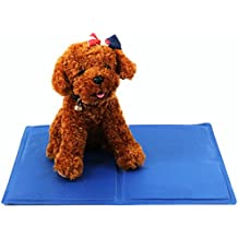 Cómoda almohadilla de refrigeración para mascotas de Rechel. Almohadilla de hielo, almohada refrescante, colchoneta para perros y gatos que se activa con la presión. Contribuye a refrescar las mascotas en verano