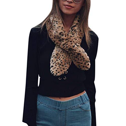 Yunt elegante calda pelliccia sintetica stand-up collare sciarpa, morbido scaldacollo per l'inverno