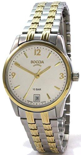 Boccia Damen Analog Quarz Uhr mit Titan Armband 3272-04