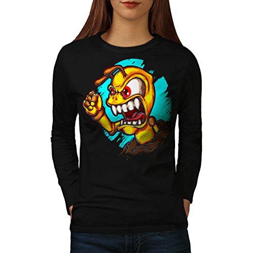 fourmi-en-colere-monstre-bizarre-femme-nouveau-noir-l-t-shirt-manches-longues-wellcoda