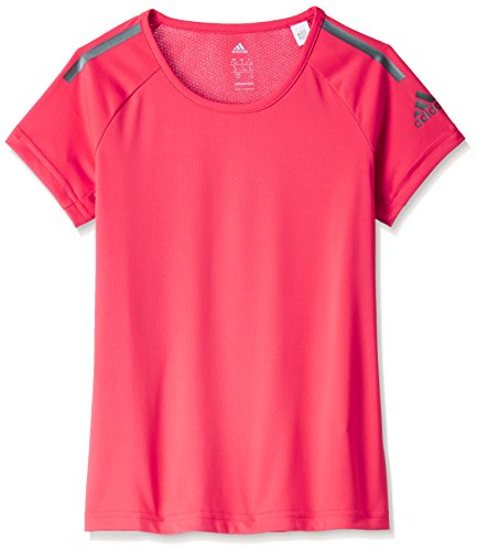 adidas Mädchen Climacool Training T-Shirt, Core Pink/Iron Metallic, 152