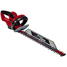 Einhell Electric Hedge Trimmer GC-EH 6055/1 (600 W, 2800 Cuts/Min, Blades Made of Laser-Cut and Diamond-Ground Steel, Metal Gearing, Cuttings Collector, Strain-Relief Clip, Two-Hand Safety Switch)