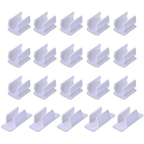 Outus Clip de Support pour Stylo Adhésif 2 Tailles pour le Stylo Pinceau à Coller sur le Bureau Ordinateur Voiture Tableau d'Affichage Presse-Papiers Listes d'Achats Dessin Conseil, 20 Pièces,