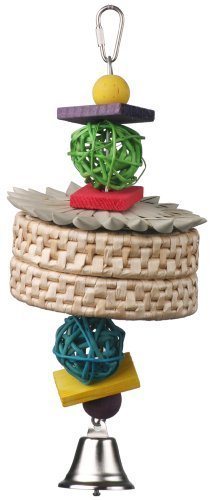 super-bird-creations-12-by-4-1-2-inch-almond-joy-bird-toy-medium-by-super-bird-creations-llc-english