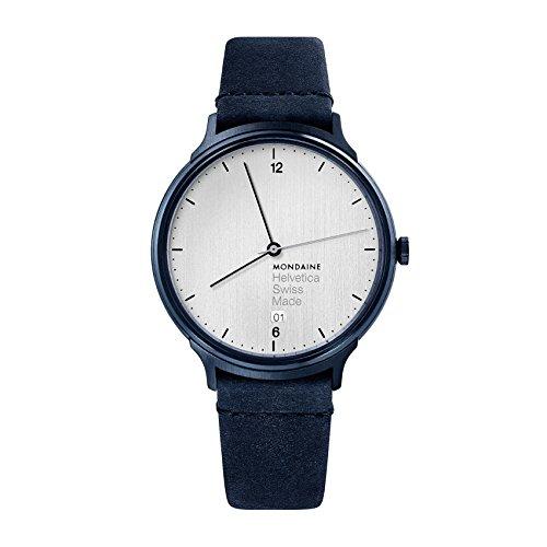 Mondaine Unisex-Adult Analog Swiss-Quartz Watch with Leather Strap MH1.L2210.LD