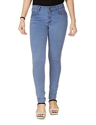FLIRT NX Women's Denim Stretchable Mid Blue Slim Fit Jeans