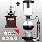 Siphon Kaffeemaschine Set Kaffee Siphon Technia Sternzeichen Totem Siphon Kanne Kaffeekanne 11 Farben, 3 Tassen, 110 * 352 mm Vakuum-Kaffeemaschinen (Farbe: J)