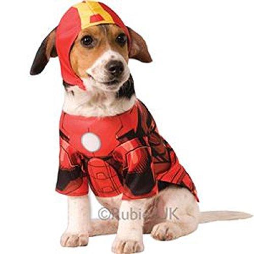 Iron Man Dog Kostüm - Groß (Man Iron Kostüme Für Haustiere)